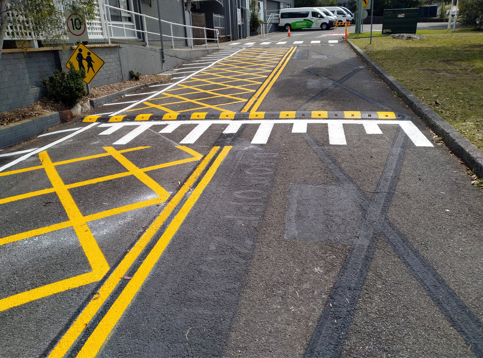 Allambie Heights Road Linemarking
